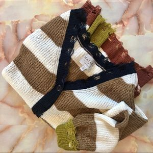 Hayden Los Angeles Destroyed Cardigan Sweater